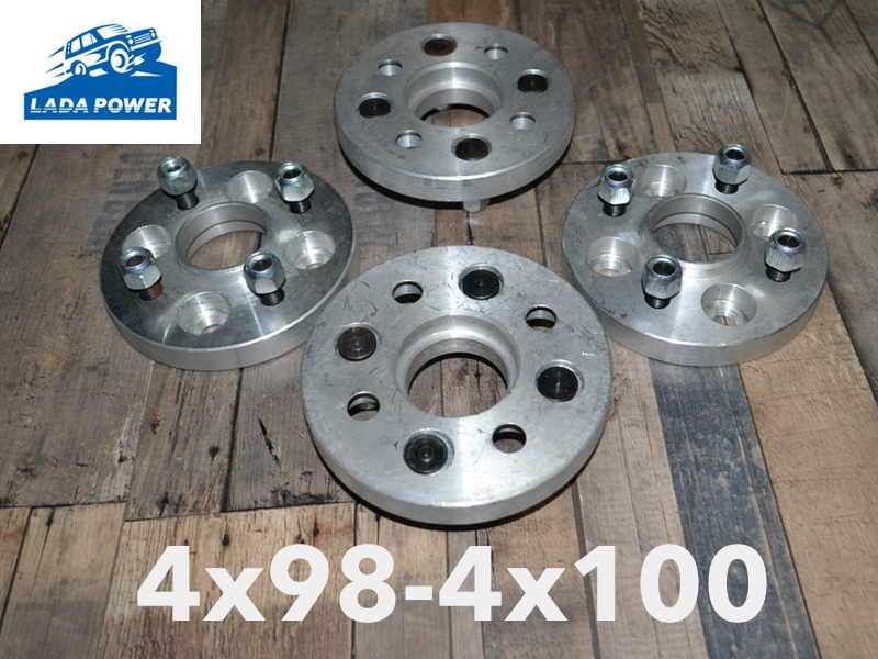 Tuning 2101 2107 Lada 2101 2107 Wheel Spacers 20mm 4x98 To 4x100 58 6 D16t 4pcs Kit