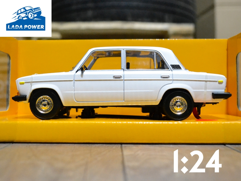 Lada 2106 White Toy Car 1:24 (19cm)