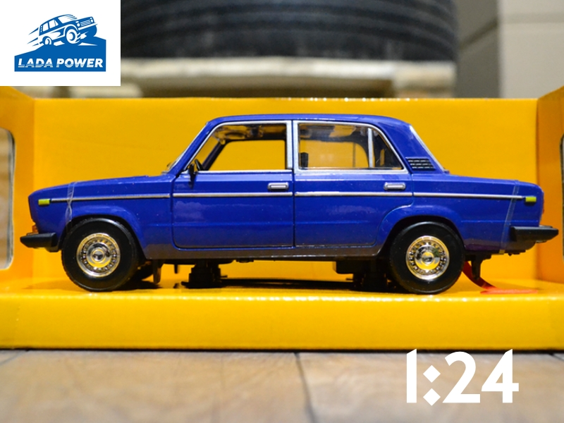 Lada 2106 Blue Toy Car 1:24 (19cm)