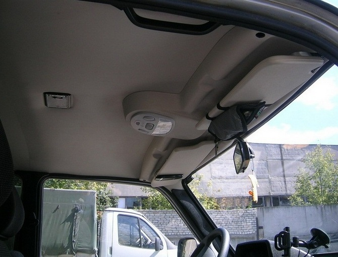Lada Niva Headlining Ceiling Lining With Lamp (With Sunvisors) Tuning Light Grey