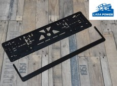 Lada License Plate Black Holder  (520x112 Plate Size)
