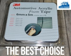 Double Sided Adhesive Acrylic Foam Tape Grey 3M 10mx6mmx1.0mm - The best from all possible