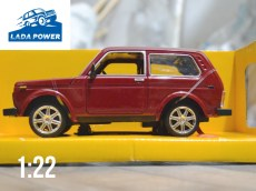Lada Niva Toy Car 1:22 Red (20cm)