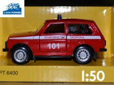 Lada Niva Toy Car 1:50 Fire Engine (9cm)