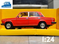 Lada 2106 Red Toy Car 1:24 (19cm)