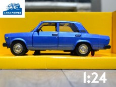 Lada 2107 Blue Toy Car 1:24 (19cm)