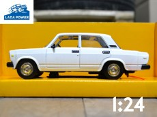 Lada 2107 White Toy Car 1:24 (19cm)