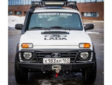 Lada Niva F-Design Front  Bullbar Power HD Bumper With Grille Guard With Place For Winch
