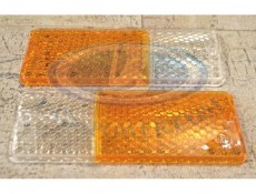 Lada Niva / Lada 2103 2106 Front Turn Signal Lens Set White/Orange