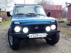 Lada Niva Fog Light White OEM Round Kit With H3 Lamps in kit