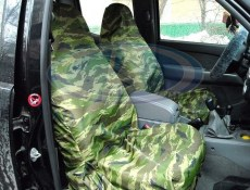 Lada Niva 2101-2107 Universal Water-Proof  Covers For The Front Seats (Green Camouflage)